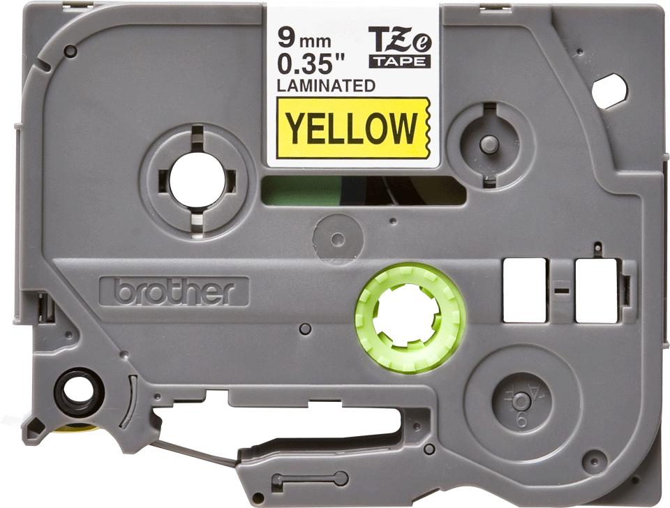 Eredeti Brother TZe-621 szalag – Sárga alapon fekete, 9mm széles