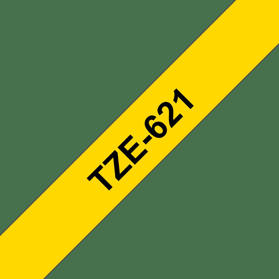 Eredeti Brother TZe-621 szalag – Sárga alapon fekete, 9mm széles 3