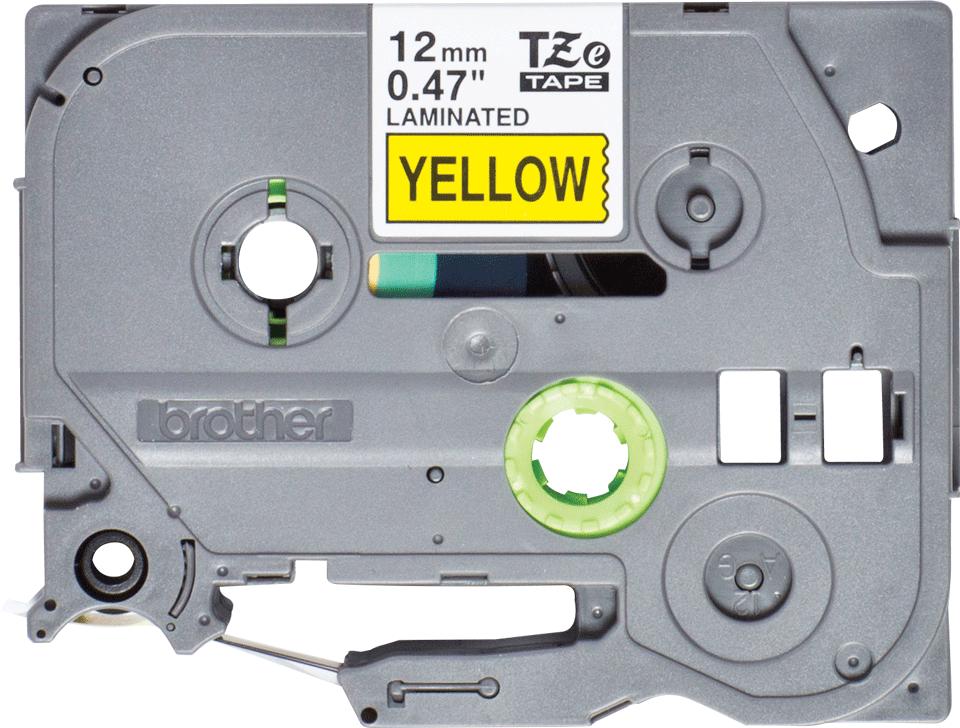 Eredeti Brother TZe-631S  szalag - Fekete alapon sárga színű, 12 mm széles