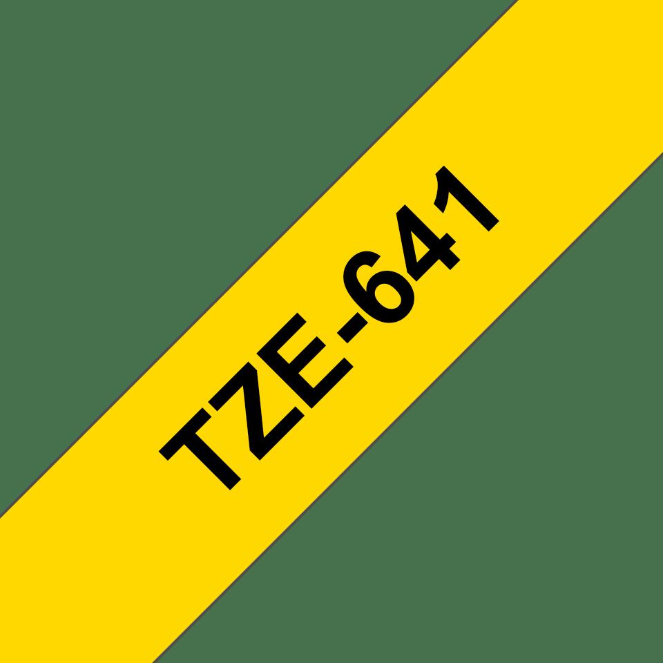 Eredeti Brother TZe-641 szalag – Sárga alapon fekete, 18mm széles 3