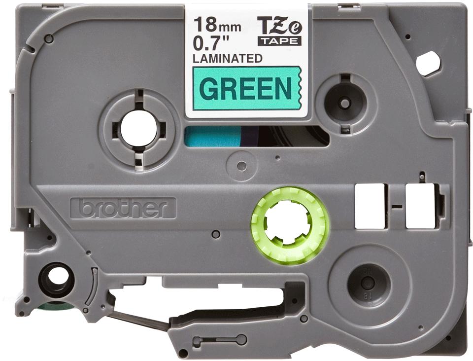 Eredeti Brother TZe-741 szalag– Zöld alapon fekete, 18mm széles