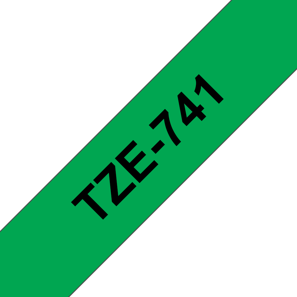 Eredeti Brother TZe-741 szalag– Zöld alapon fekete, 18mm széles 3