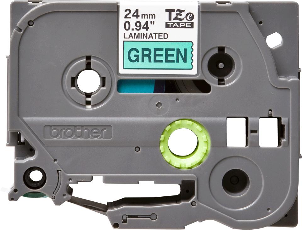 Eredeti Brother TZe-751 szalag  – Zöld alapon fekete, 24mm széles