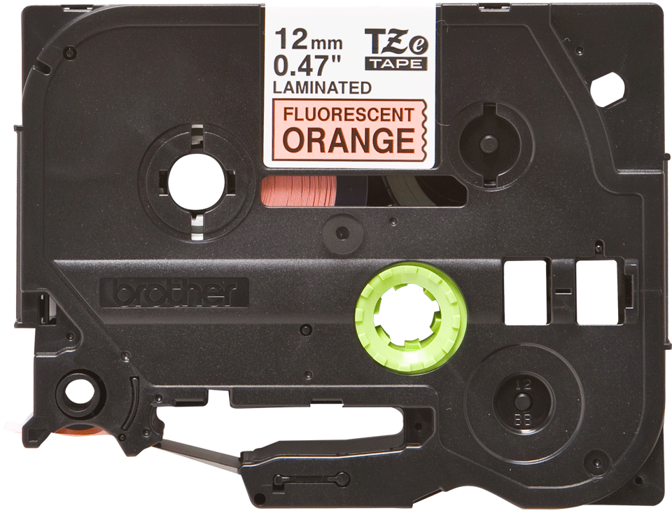 Eredeti Brother TZe-B31 szalag – Fluoreszkáló narancssárga , 12mm széles