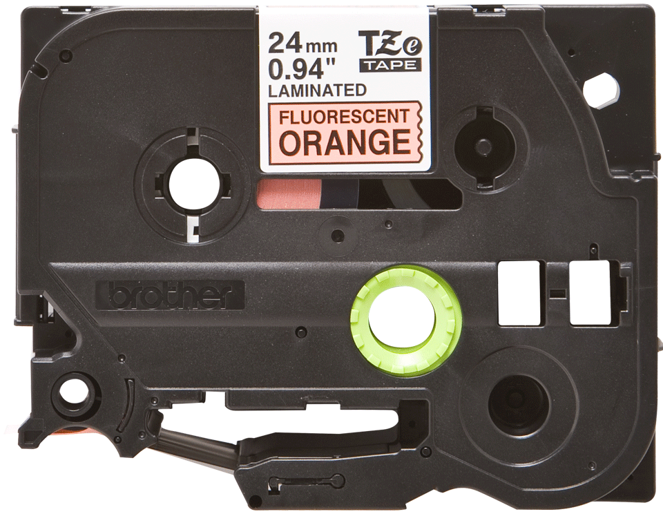 Eredeti Brother TZe-B51 szalag – Fluoreszkáló narancssárga, 24mm széles