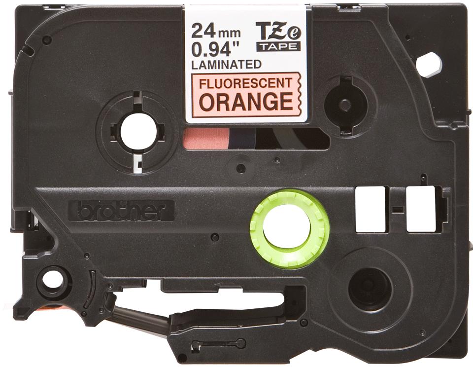 Eredeti Brother TZe-B51 szalag – Fluoreszkáló narancssárga, 24 mm széles