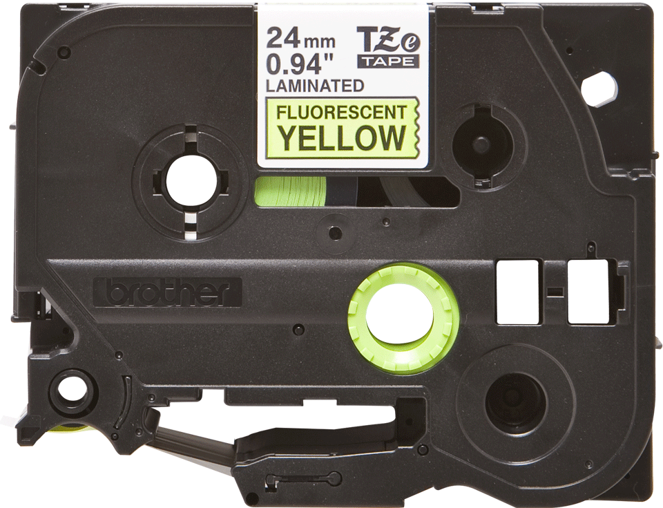 Eredeti Brother TZe-C51 szalag – Fluoreszkáló neon sárga , 24mm széles