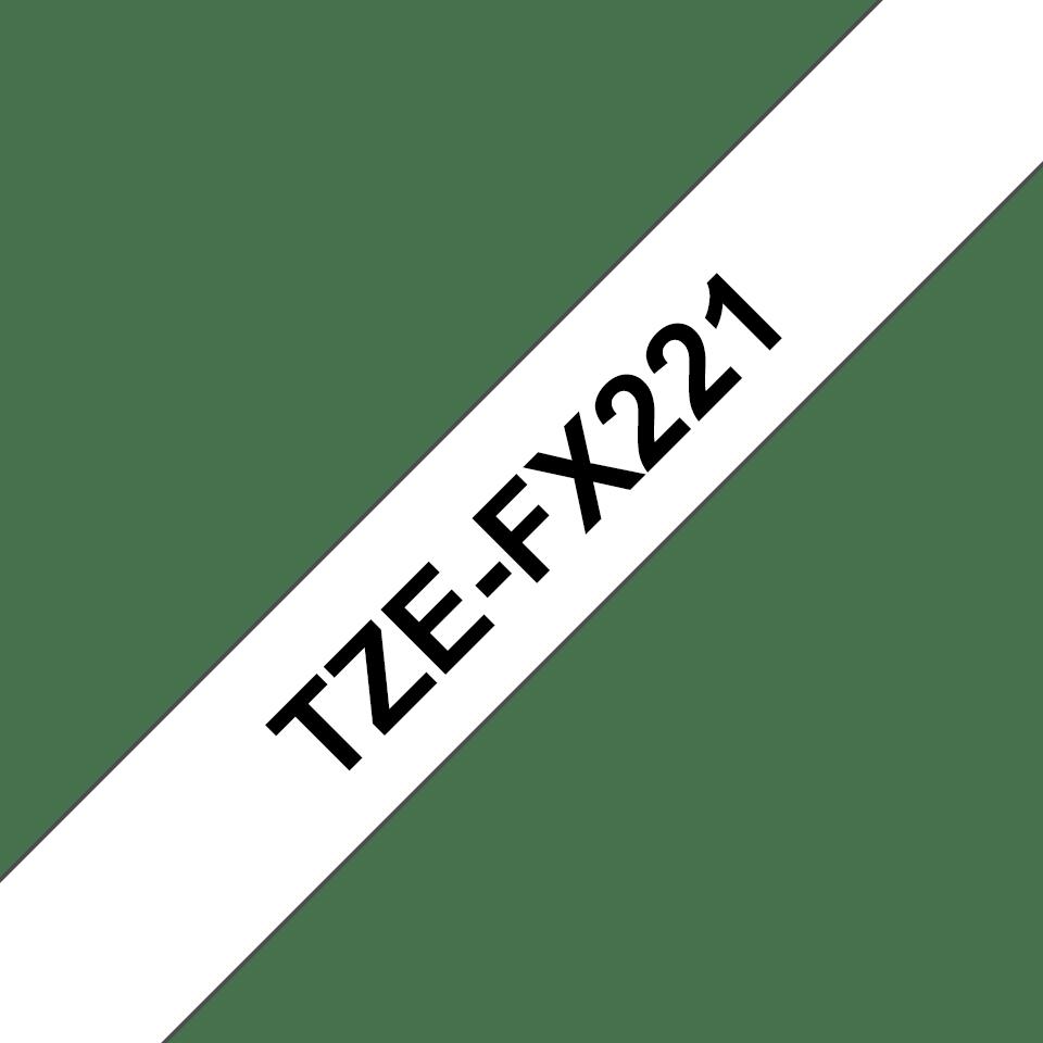 Eredeti Brother TZe-FX221 szalag fehér alapon fekete, 9mm széles 3
