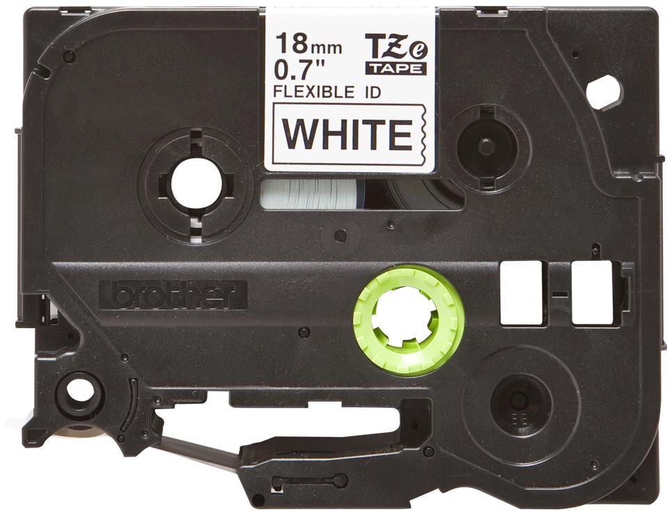 Eredeti Brother TZe-FX241 szalag fehér alapon fekete, 18mm széles