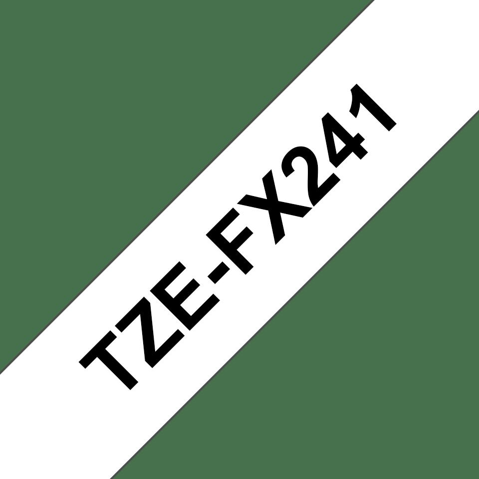 Eredeti Brother TZe-FX241 szalag fehér alapon fekete, 18mm széles 3