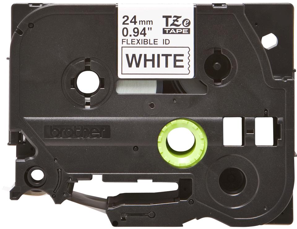 Eredeti Brother TZe-FX251 szalag fehér alapon fekete, 24mm széles