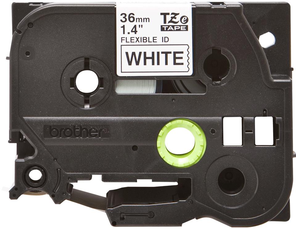 Eredeti Brother TZe-FX261 szalag fehér alapon fekete, 36mm széles 2