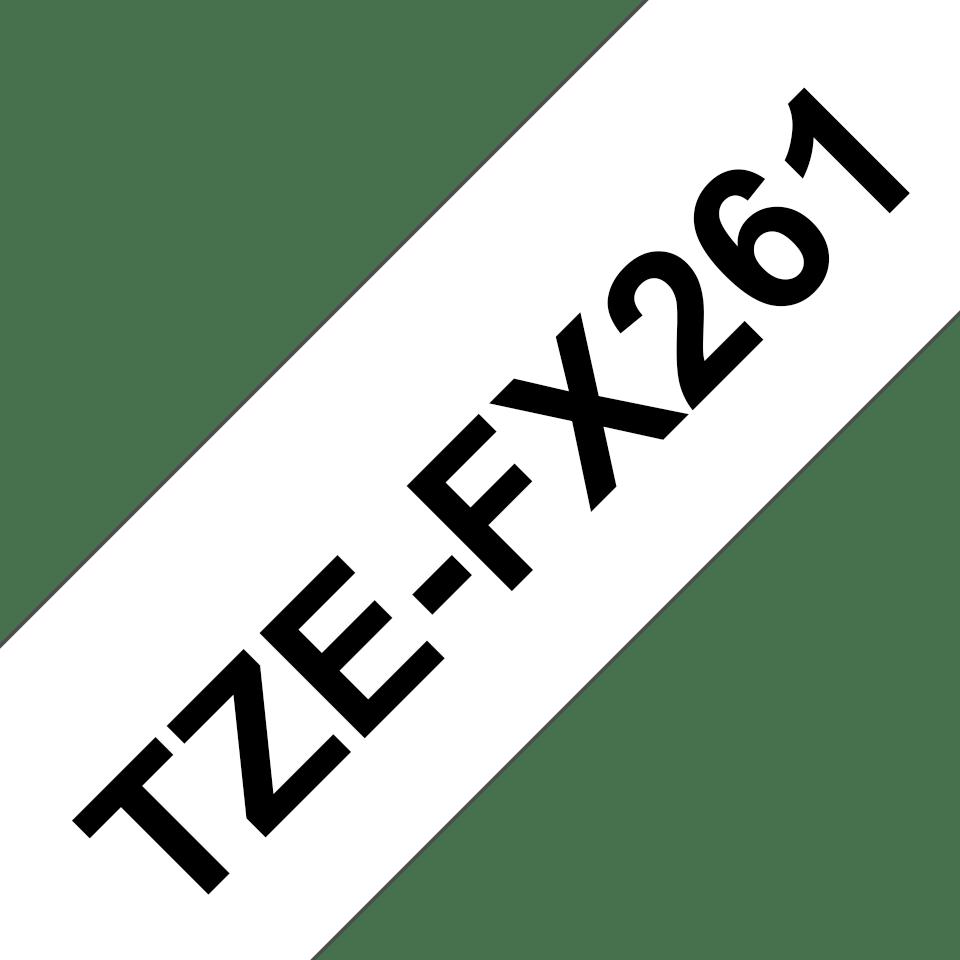 Eredeti Brother TZe-FX261 szalag fehér alapon fekete, 36mm széles 3