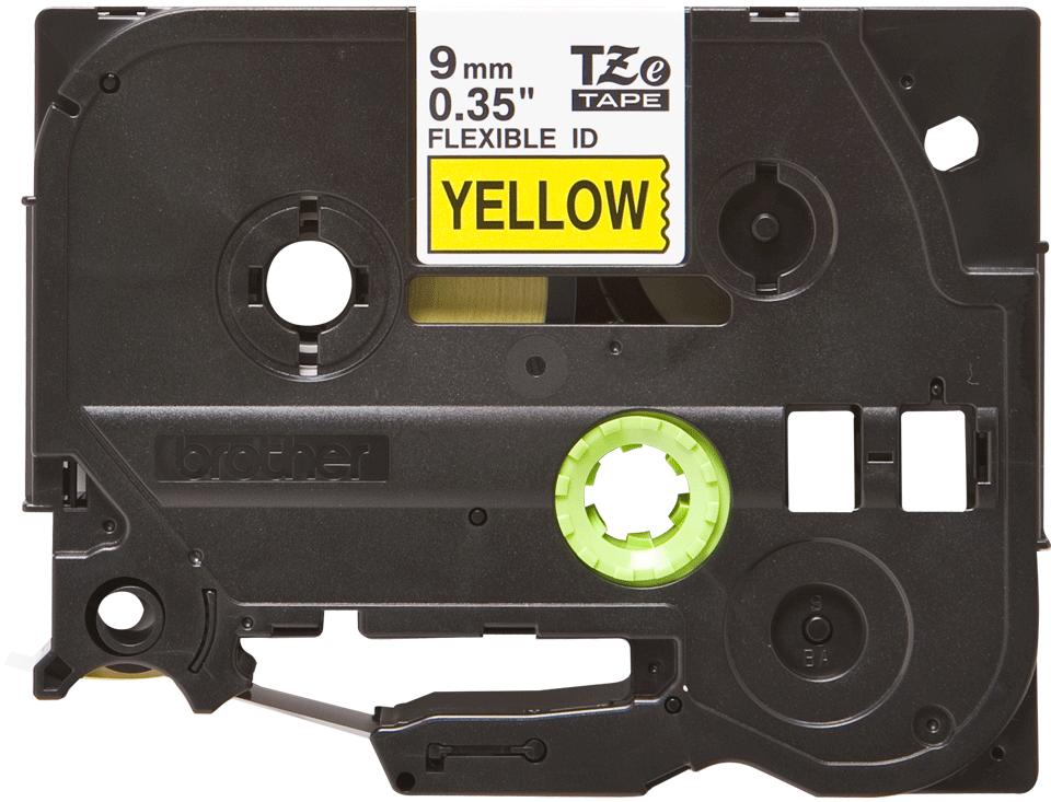 Eredeti Brother TZe-FX621 szalag sárga alapon fekete, 9mm széles