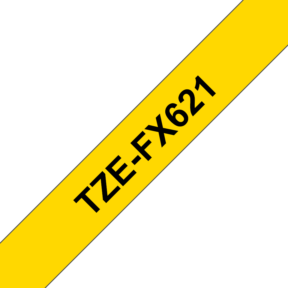 Eredeti Brother TZe-FX621 szalag sárga alapon fekete, 9mm széles 3