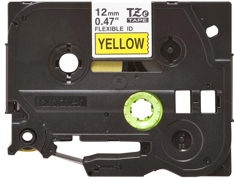 Eredeti Brother TZe-FX631 szalag sárga alapon fekete, 12mm széles