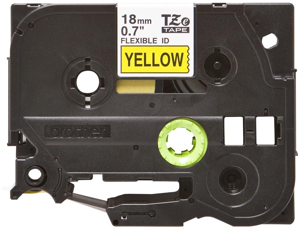 Eredeti Brother TZe-FX641 szalag sárga alapon fekete, 18mm széles