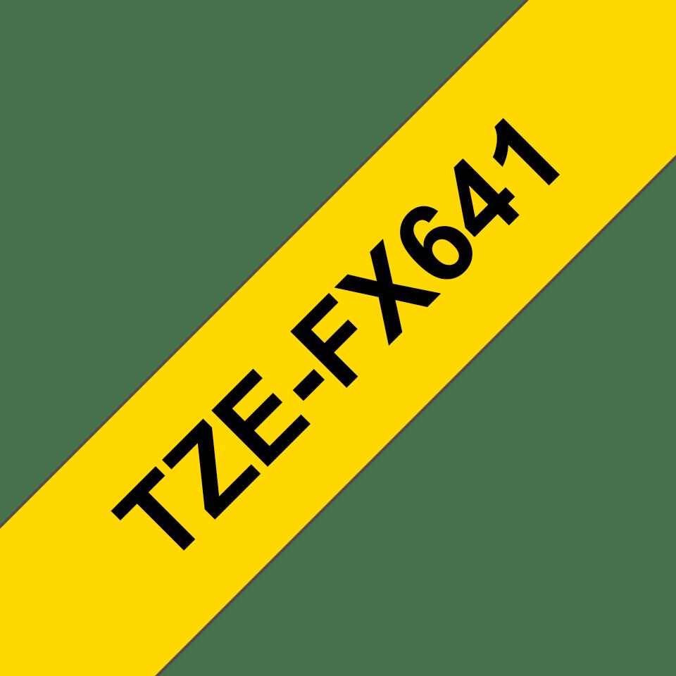 Eredeti Brother TZe-FX641 szalag sárga alapon fekete, 18mm széles 3