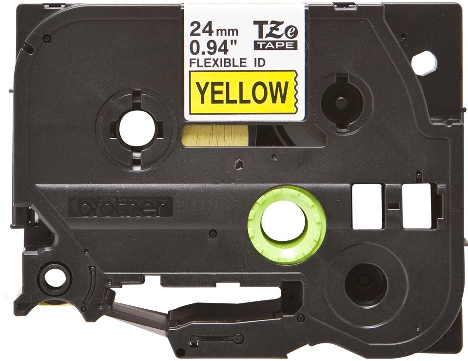 Eredeti Brother TZe-FX651 szalag sárga alapon fekete, 24mm széles