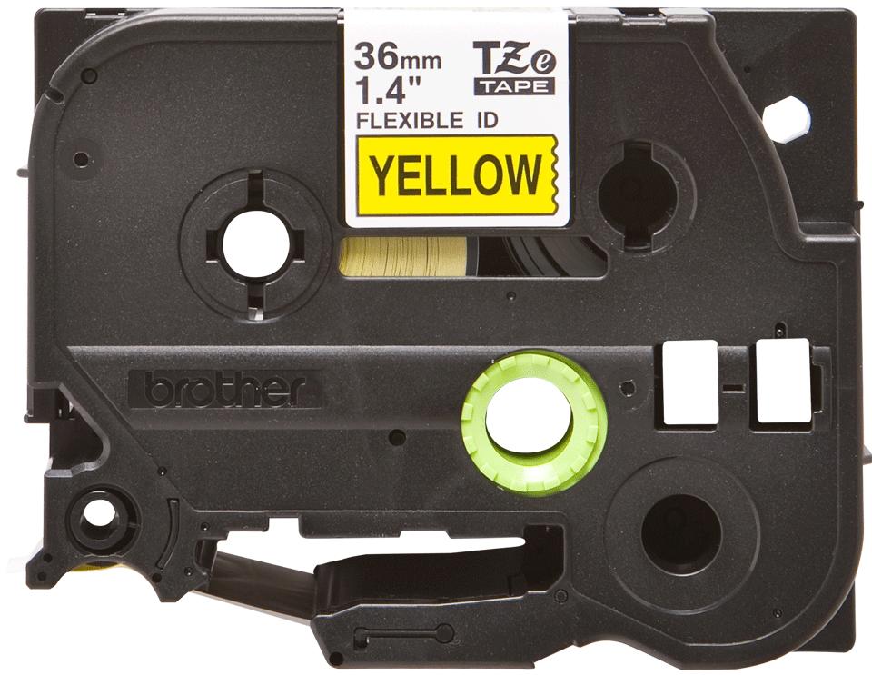 Eredeti Brother TZe-FX661 szalag sárga alapon fekete, 36mm széles