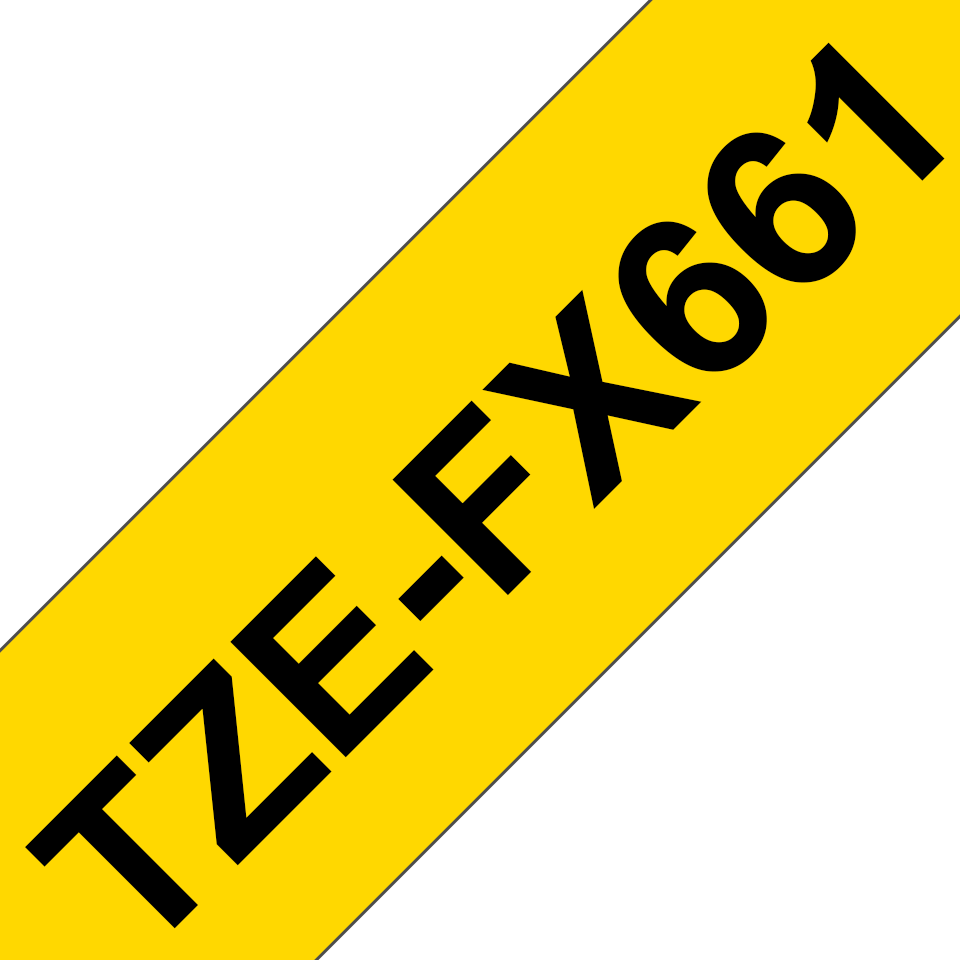 Eredeti Brother TZe-FX661 szalag sárga alapon fekete, 36mm széles 3