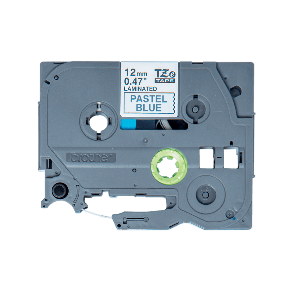 Eredeti Brother TZe-MQ531 szalagkazetta – Pasztellkék alapon fekete, 12mm széles