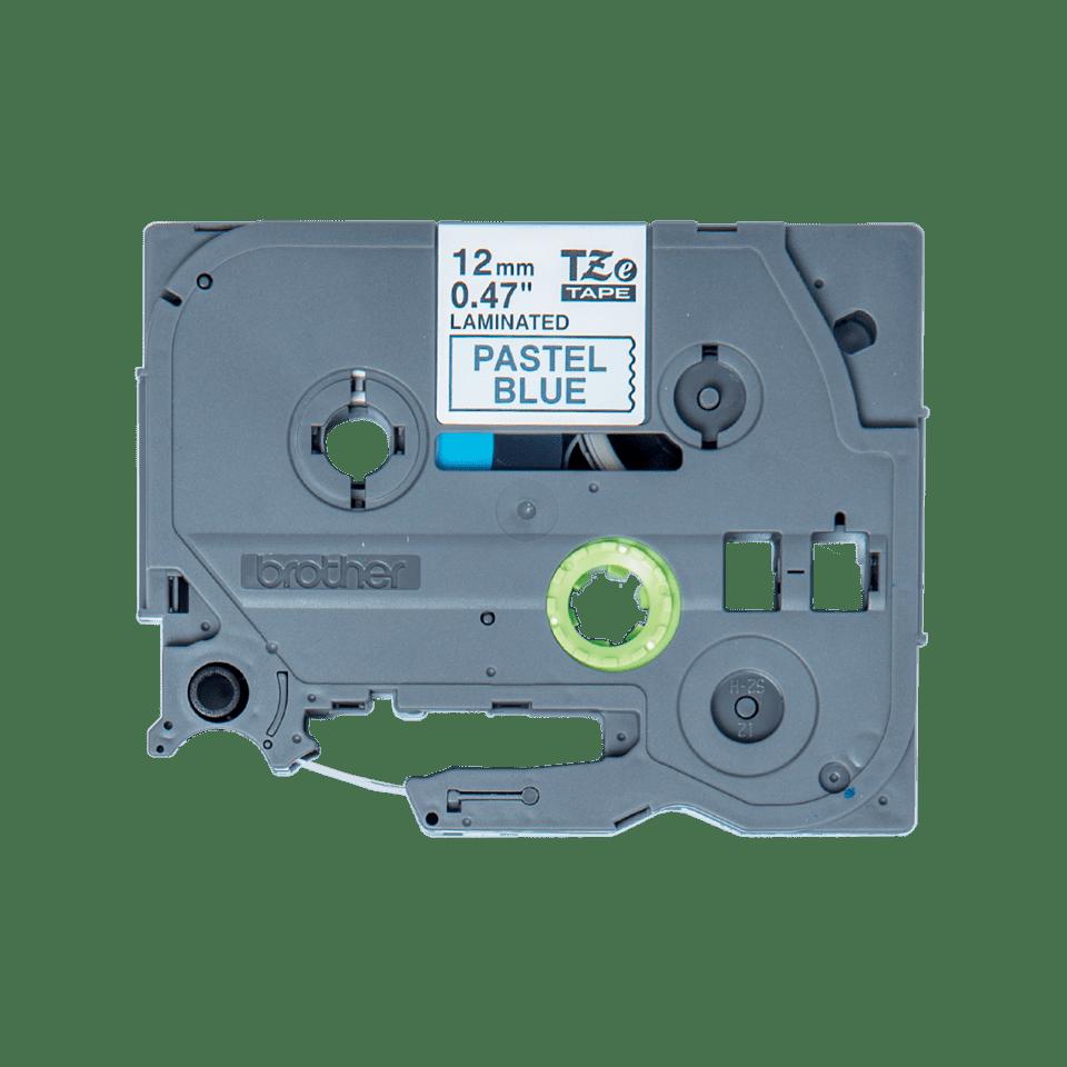 Eredeti Brother TZe-MQ531 szalagkazetta – Pasztellkék alapon fekete, 12mm széles 2