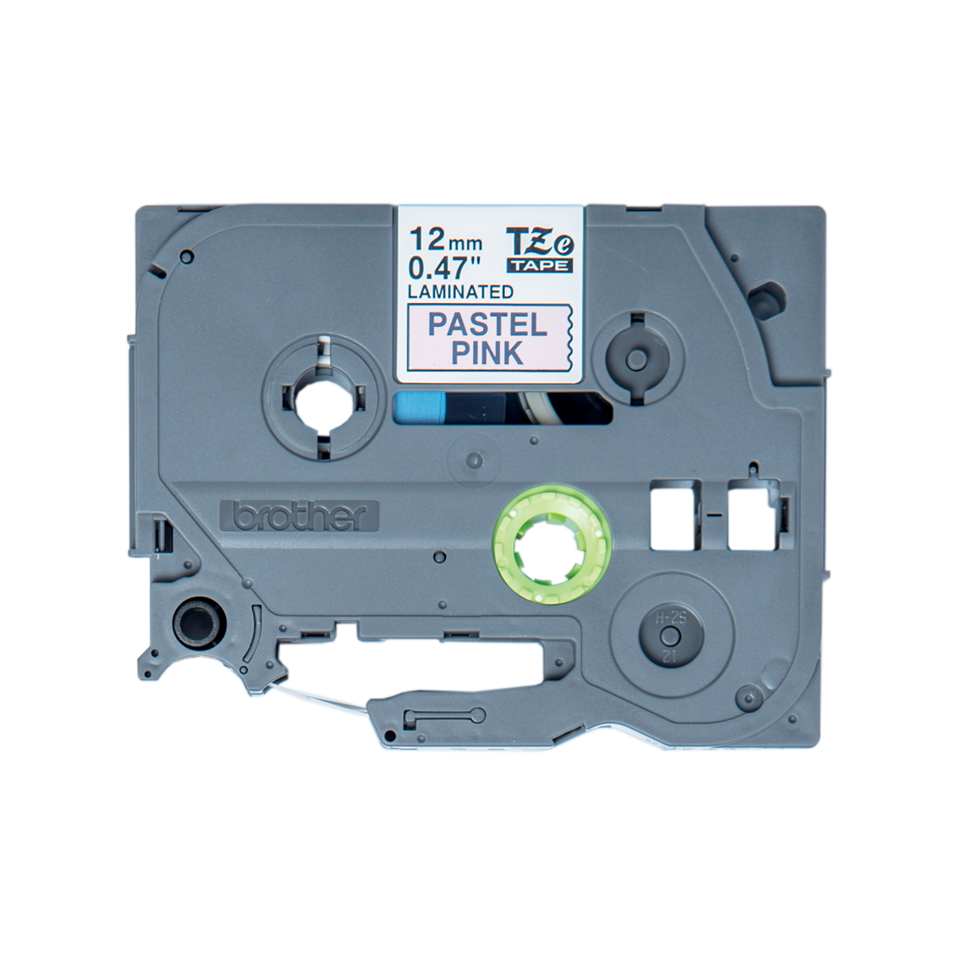 Eredeti Brother TZe-MQE31 szalag – Pasztell rózsaszín alapon fekete, 12 mm széles