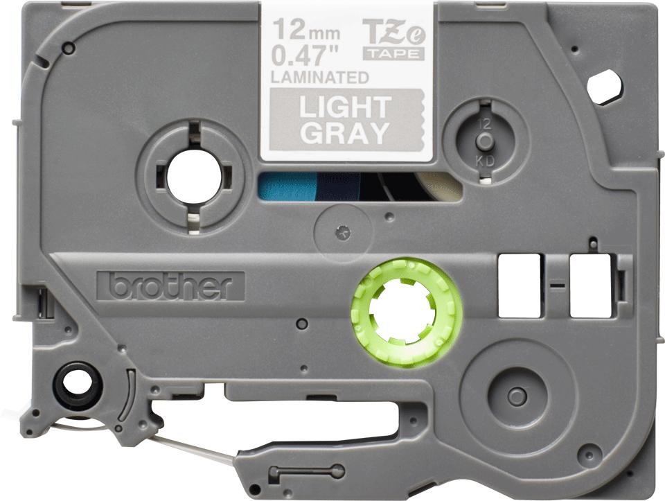 Eredeti Brother TZe-MQL35 szalag– Szürke alapon fehér, 12mm széles