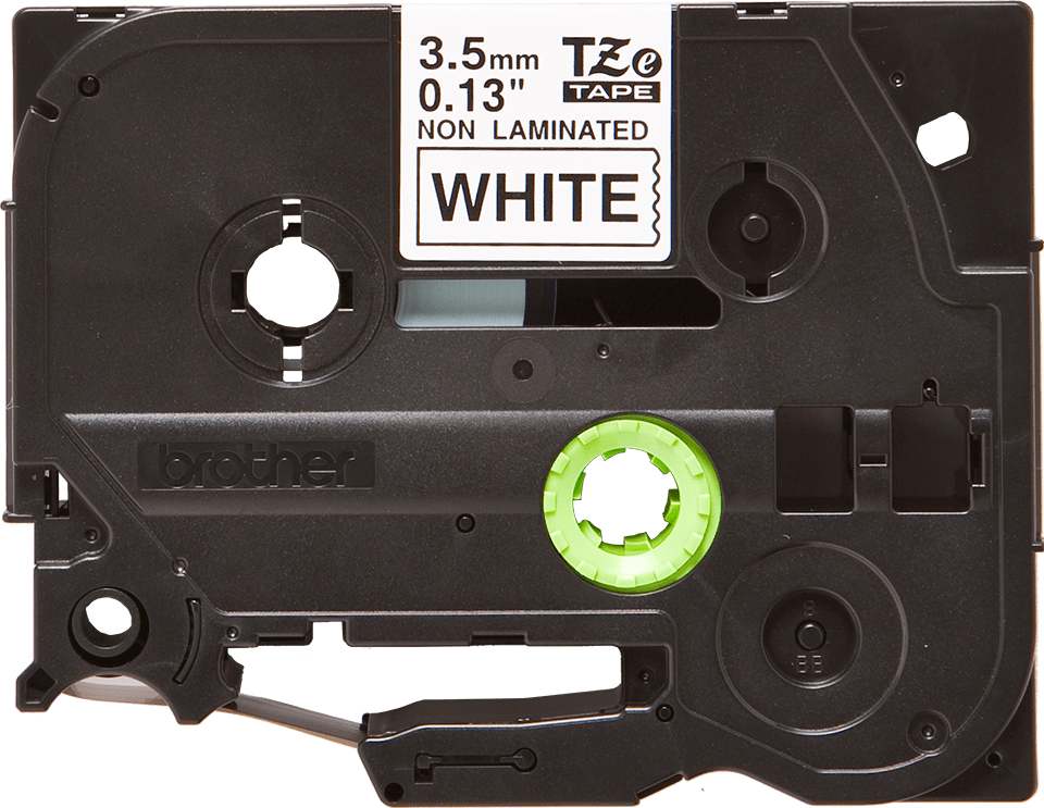 Eredeti Brother TZe-N201 nem laminált szalag– fehér alapon fekete, 3.5mm széles