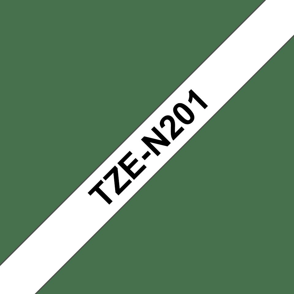 Eredeti Brother TZe-N201 nem laminált szalag– fehér alapon fekete, 3.5mm széles 3