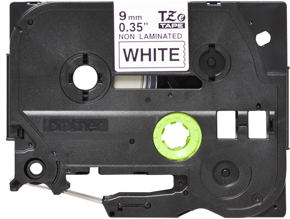 Eredeti Brother TZe-N221 nem laminált szalag -Fehér alapon fekete, 9mm-es.