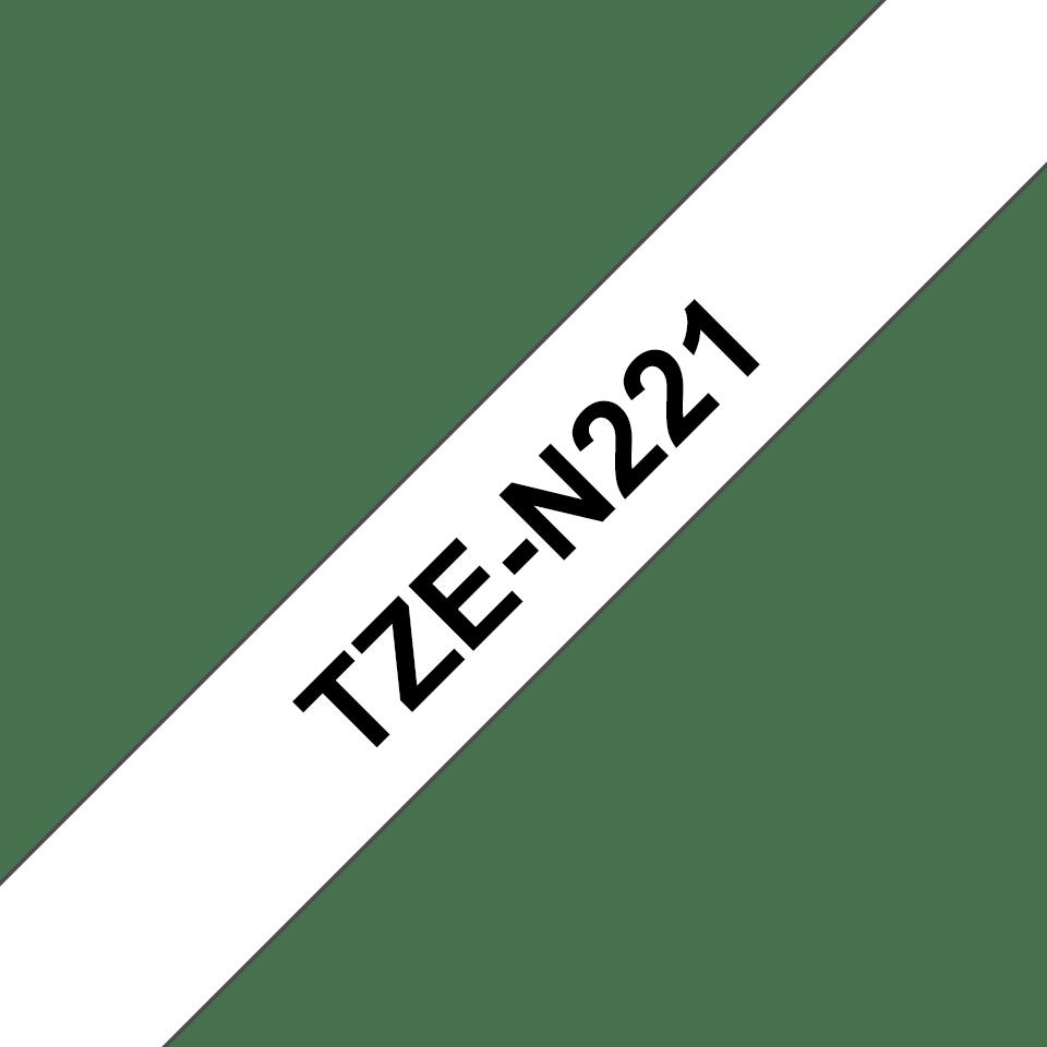 Eredeti Brother TZe-N221 nem laminált szalag -Fehér alapon fekete, 9mm-es.  3
