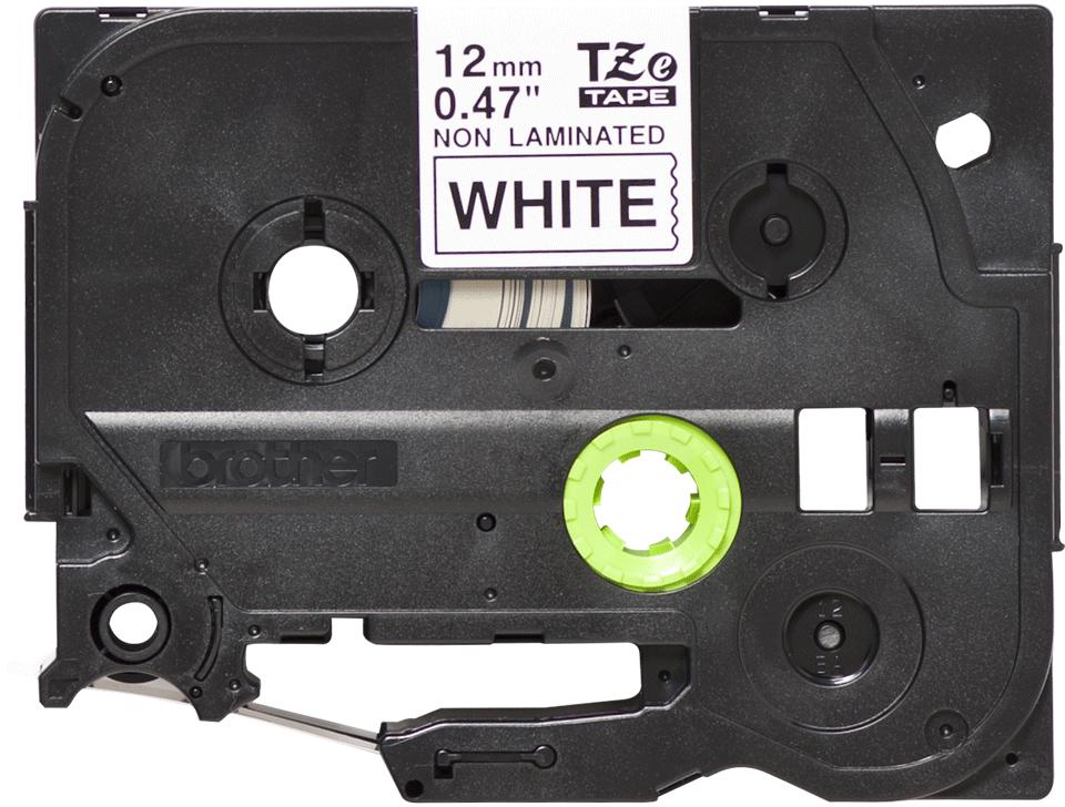 Eredeti Brother TZe-N231 nem laminált szalag – Fehér alapon fekete, 12mm széles