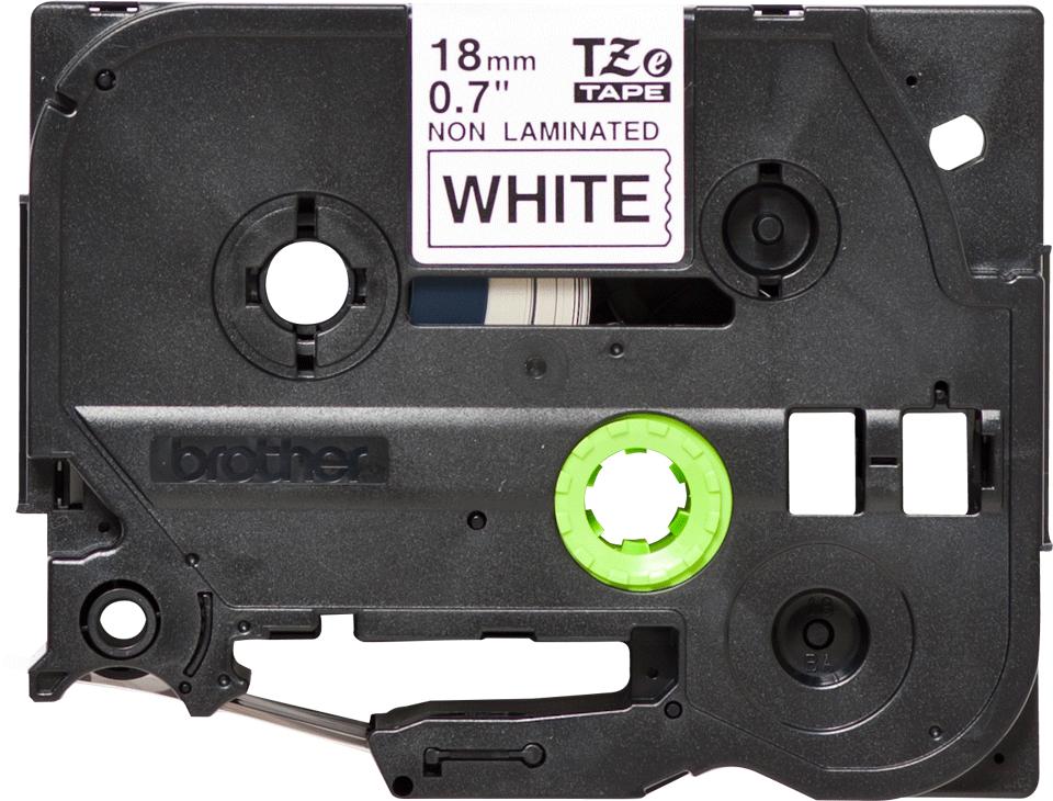 Eredeti Brother TZe-N241 nem laminált szalag – Fehér alapon fekete, 18mm széles