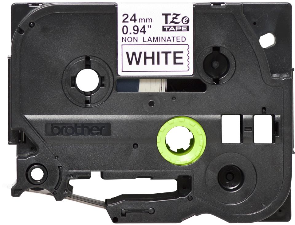 Eredeti Brother TZe-N251 nem laminált szalag – Fehér alapon fekete, 24mm széles