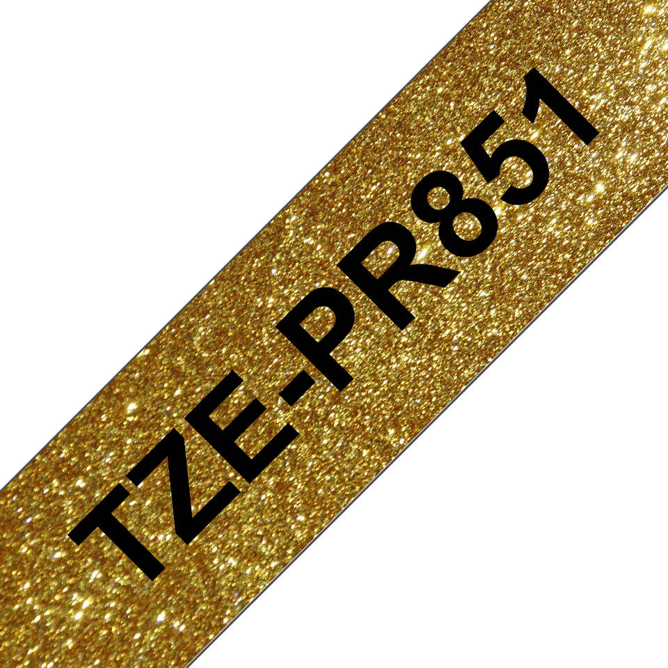 Eredeti Brother TZe-PR851 szalag – Arany alapon fekete, 24 mm széles 3