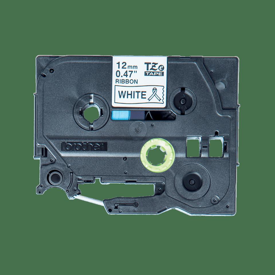 Eredeti Brother TZe-R231 selyem szalag – Fehér alapon fekete, 12mm széles