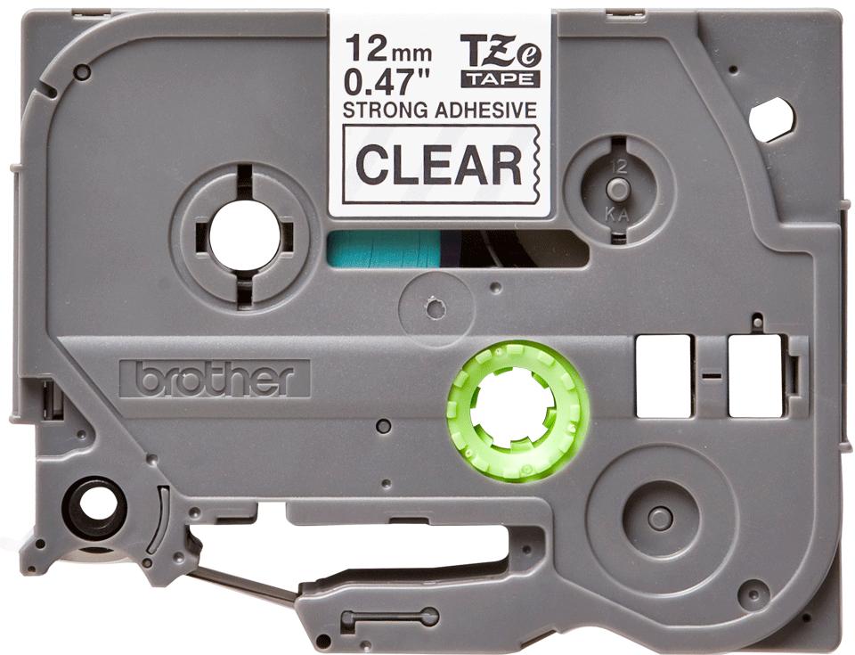 Eredeti Brother TZe-S131 szalag – Átlátszó alapon fekete, 12mm széles