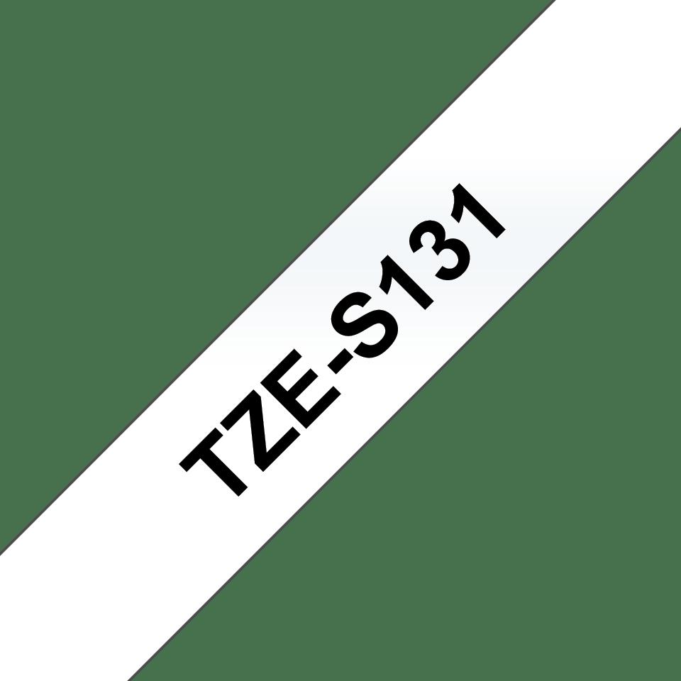 Eredeti Brother TZe-S131 szalag – Átlátszó alapon fekete, 12mm széles 3