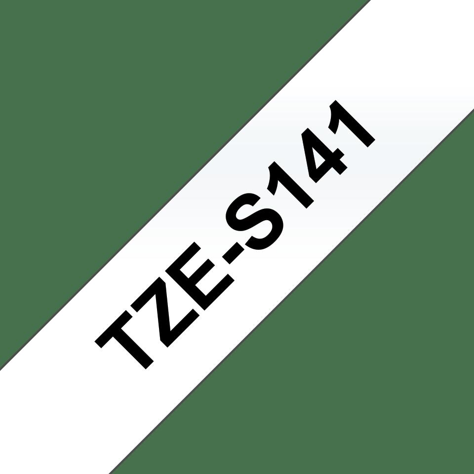 Eredeti Brother TZe-S141 szalag – Átlátszó alapon fekete, 18mm széles 3