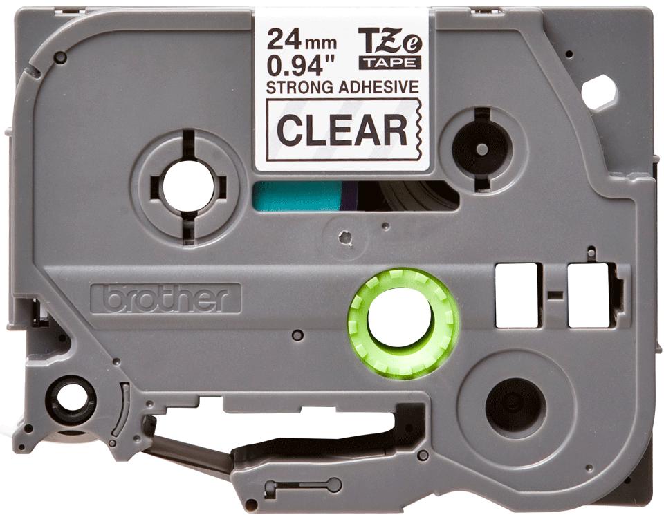 Eredeti Brother TZe-S151 szalag – Átlátszó alapon fekete, 24mm széles