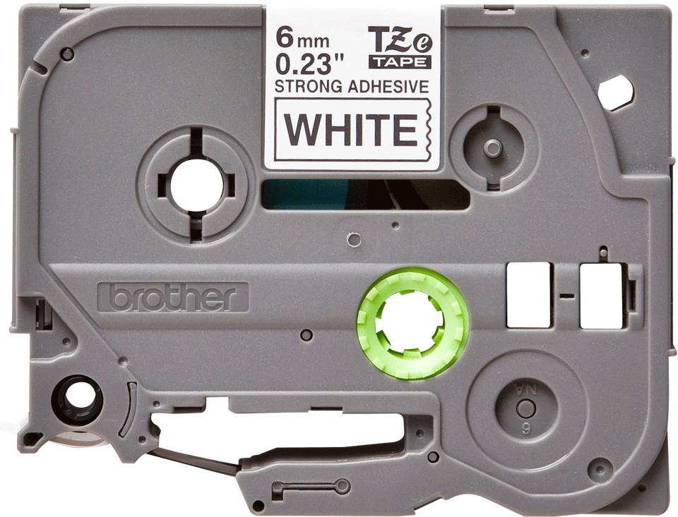 Eredeti Brother TZe-S211 szalag – Fehér alapon fekete, 6mm széles