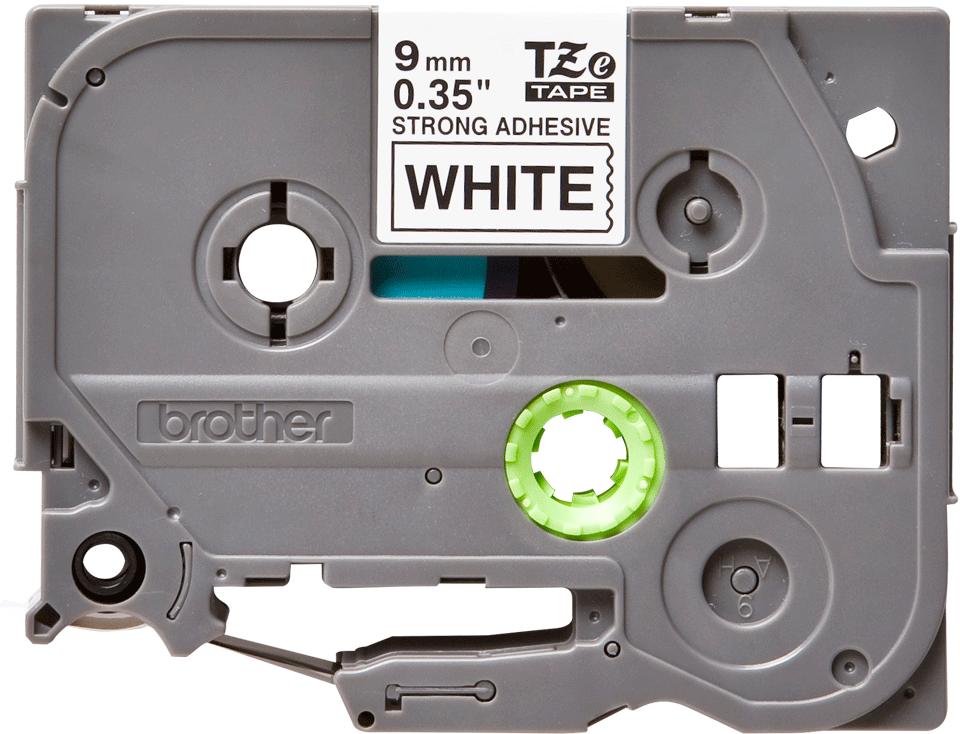 Eredeti Brother TZe-S211 szalag – Fehér alapon fekete, 9mm széles