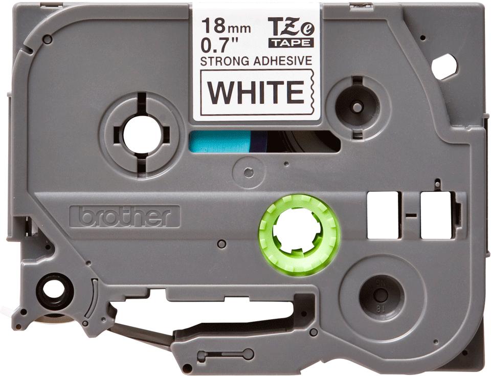 Eredeti Brother TZe-S241 szalag – Fehér alapon fekete, 18mm széles