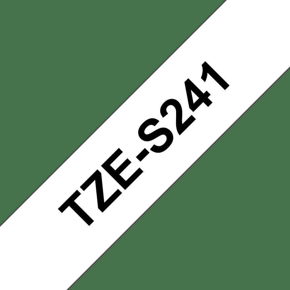 Eredeti Brother TZe-S241 szalag – Fehér alapon fekete, 18mm széles 3