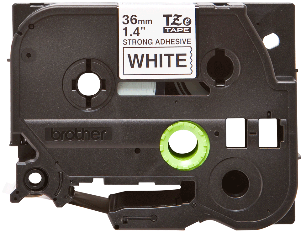 Eredeti Brother TZe-S261 P-touch fehér alapon fekete, 36mm-es.