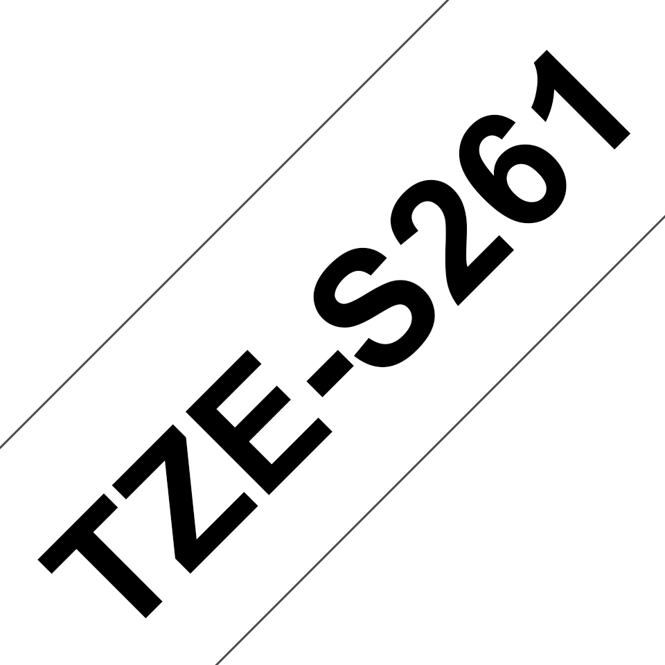 Eredeti Brother TZe-S261 P-touch fehér alapon fekete, 36mm-es. 3