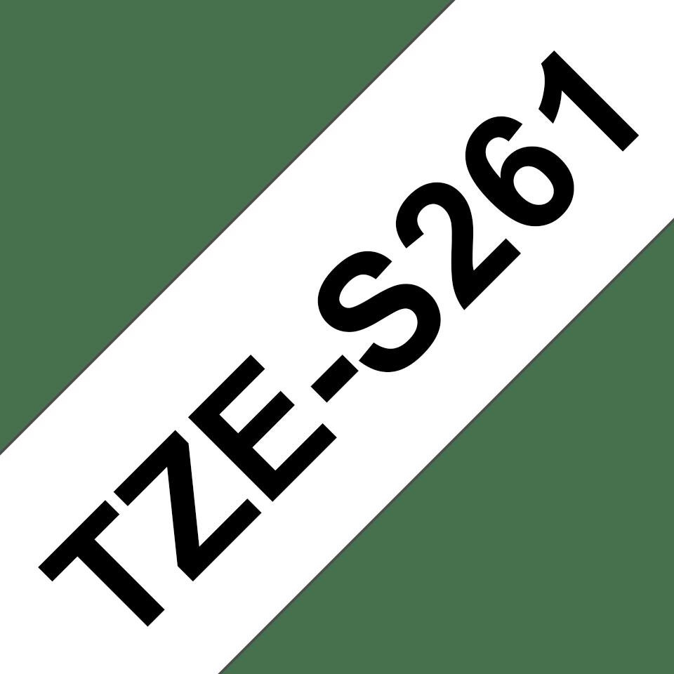 Eredeti Brother TZe-S261 P-touch fehér alapon fekete, 36mm-es. 3