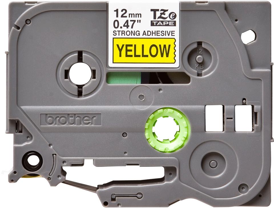 Eredeti Brother TZe-S631 P-touch sárga alapon fekete, 12mm széles